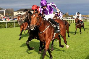 Saxon Warrior just edges out Roaring Lion at Doncaster in the Racing Post Trophy last October. Now the duo are set to lock horns again in the Investec Derby at Epsom on Saturday.