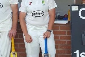 Lauren Tuffrey 110 and  John Whiteley 132 for Chesterfield 3rd XI