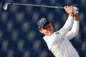 Danny Willett in action at The Open