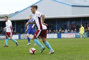 South Shields left-back Anthony Callaghan is to have surgery. Picture by Peter Talbot.