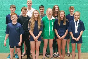 The Leyland Barracudas swimmers