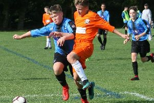 Under-15 action between FC Rangers Blues and AFC Blackpool  Picture: KAREN TEBBUTT