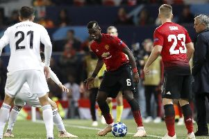 Manchester United's Paul Pogba during the UEFA Champions League, Group H match at Old Trafford, Manchester. Martin Rickett/PA Wire