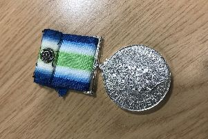 The medal is believed to have been lost at Sunday's Armistice commemorations in Sheffield.