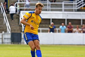 Stocksbridge defender Todd Jordan back in the squad to face Cleethorpes after two months out with injury.  Pic by Peter Revitt