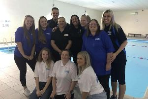 Staff at the Super Swimmers pool in Dinnington
