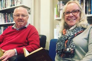 Steven Wilcock and Theresa Guy are leading a voluntary team in the relaunch of Trawden Library and a new ethical shop.