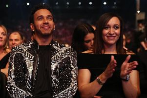 Jessica Ennis-Hill with BBC Sports Personality of the Year nominee Lewis Hamilton