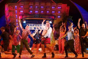 Shelley Longworth centre, and the cast of Benidorm Live