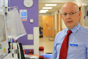 Dr David Throssell, medical director of the Sheffield Teaching Hospitals trust, who is retiring after 32 years in the NHS. Picture: Chris Etchells
