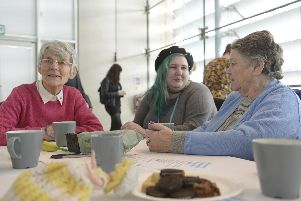 Dementia drop in cafe held at the Millennium Galleries in Sheffield