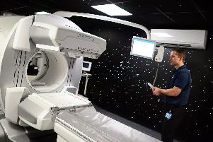 Mark Haines, Lead Practitioner in Nuclear Medicine, pictured, by the SPECT CT scanner. Picture: NSST-30-01-19-SPECTScanner-3