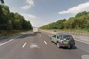 The M1 in Rotherham. Picture: Google