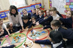 Pictured is Class Y1 with teacher Mrs Birley, Healthy Eating