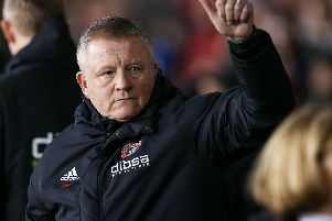 Chris Wilder manager of Sheffield Utd during the Sky Bet Championship match at the Bramall Lane Stadium, Sheffield.