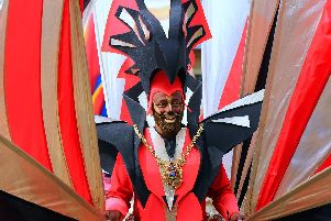 Magid Magid at Sheffield Carnival at Norfolk Heritage Park