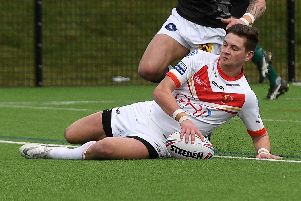 Josh Guzdek scored in the win over Bradford Bulls
