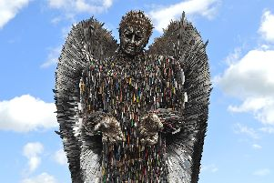 The knife angel sculpture made from more than 100,000 surrendered blades (pic: British Ironwork Centre)