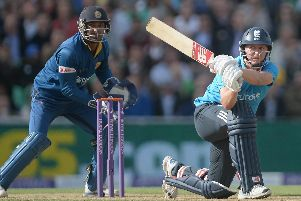 Gary Ballance of England bats against Sri Lanka in 2014 (Photo by Gareth Copley/Getty Images)