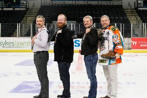 Neil Edwards, Dean Woolley, Dave Simms and Elliott Hall.