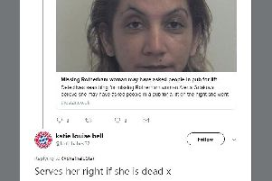 Katie Louise Bell is a prolific Twitter troll (Picture: @katiebabes62/ Twitter)