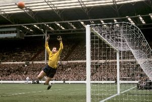 Gordon Banks, pictured in action for England in 1965. Picture: PA/PA Wire.