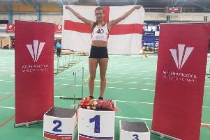 Emily Simpson 800m winner in Cardiff