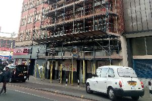The old Cannon pub building on Castle Street in Sheffield city centre