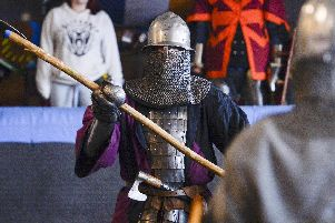 Knights in battle at the World Championship eliminating event held in Sheffield