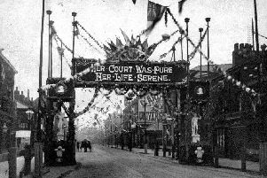 South Street, Moor, decorated for Queen Victoria's Visit, 1897