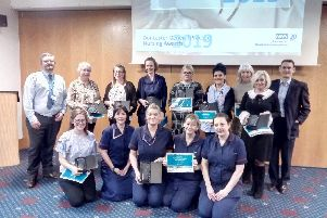 Winners and runners up at the Doncaster General Practice Nursing Awards.
