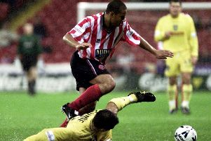 Curtis Woodhouse in action for Sheffield United in 2000. Picture: Shaun Flannery.