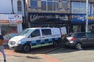 Immigration Enforcement in Poulton Street, Fleetwood on Wednesday, March 13. Credit - Andrew Park
