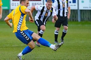 Rory Coleman will miss visit of Cleethorpes through suspension along with Brodie Litchfield.  Pic by Peter Revitt