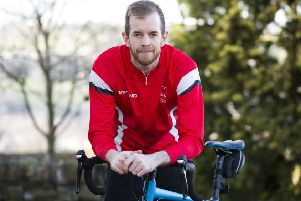 Daniel Sykes, who is raising money for The British Heart Foundation by completing 12 gruelling challenges.