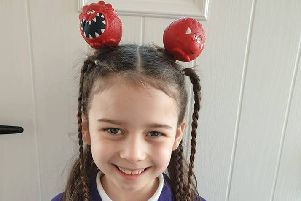 Red Nose Day in South Tyneside. Amelia. Picture: Amy Griffin.