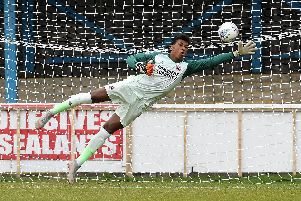 Sheffield FC keeper Jordan Amissah, on loan from Sheffield United