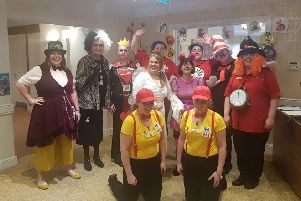 Staff at West Farm Care Centre welcomed children from Kinder Castle nursery for World Book Day.