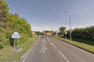 The entrance into Ellington from the A1068 roundabout. Picture from Google