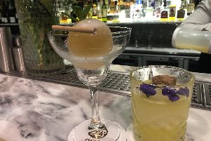 Cocktails at Oisoi, which is part of the Dine Sheffield offers this time