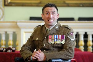 14 Aug 2017.........Ben Parkinson, the most severely injured soldier to survive the Afghanistan war, is hiven the Freedom of Doncaster in a ceremony at the town's Mansion house this afternoon (Mon). Picture Scott Merrylees