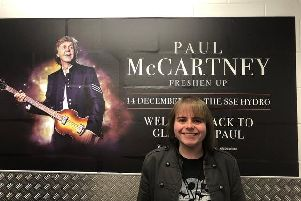 Exciting moment - DJ Rory Hoy about to meet Paul McCartney.
