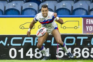 Mason Caton-Brown in action for Wakefield last season. PIC: Allan McKenzie/SWpix.com.