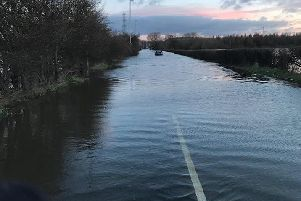 Barnsdale Road flood. Pictured by West Yorkshire Police - Leeds East.