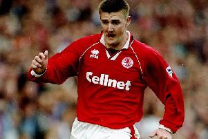 Former striker Jamie Pollock spent six years at Middlesbrough.