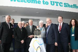 Delegates with the Duke at UTC Sheffield Olympic Legacy Park
