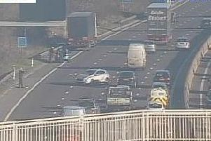 Delays are expected on the M1 in South Yorkshire this morning following a collision
