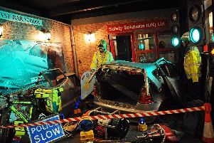 A road traffic incident, one of the displays upstairs, in the museum. Picture: Marie Caley