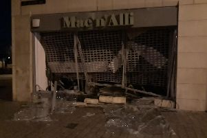 The damage caused to the cafe. Picture by Northumbria Police