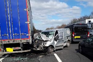 Motorists escaped unharmed after a collision on the A1M this morning